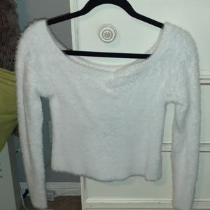 Off the shoulder soft sweater H&M